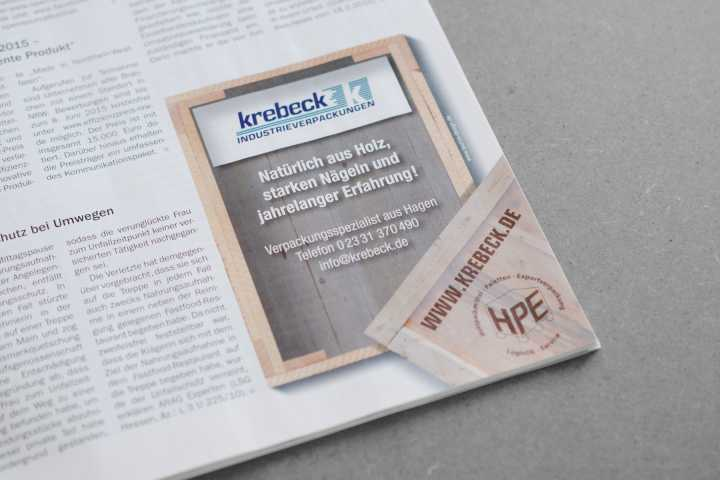 Ad Series - Ad Series for Krebeck Industrieverpackungen