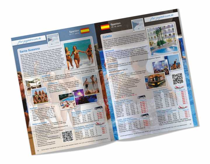 Travel catalogue - Conception, layout