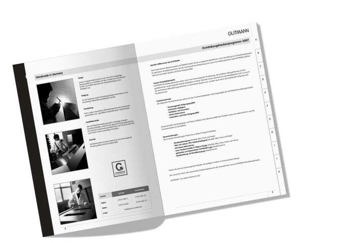 Produktkatalog - Konzeption, Layout, Satz