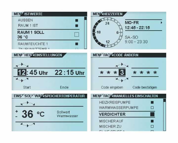Wärmepumpenregler - Produktdesign, User Interface