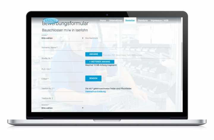 Responsive Webdesign - Concept, artwork, implementation