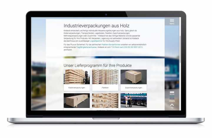 Responsive webdesign - Artwork, implementation, photography