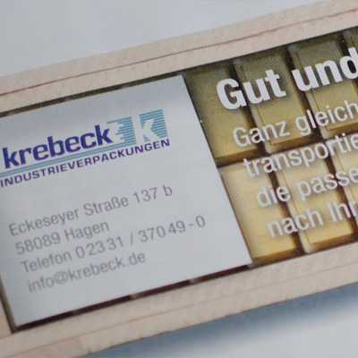 Advertisements for Krebeck Industrieverpackungen